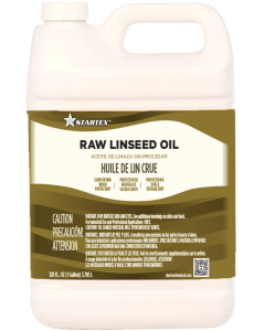 Startex Raw Linseed Oil 100% Pure - (1 Gallon, Case of 6)