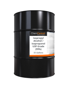 Isopropyl Alcohol / Isopropanol USP Grade (99%) - 55 Gallon Drum
